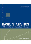 Basic Statistics: A Primer for the Biomedical Sciences...
